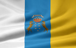 Flag of the Canary Islands royalty free illustration