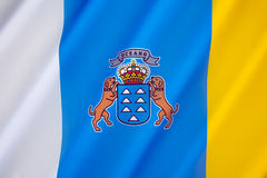 Flag of the Canary Islands Stock Image