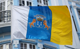 Flag of the Canary Islands Royalty Free Stock Photo