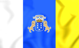 Flag of Canary Islands Royalty Free Stock Photo