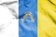 Flag of Canary Islands, Spain. Stock Image