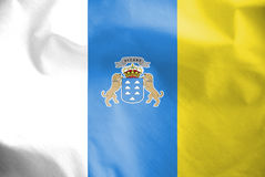 Flag of Canary Islands, Spain. Royalty Free Stock Photography
