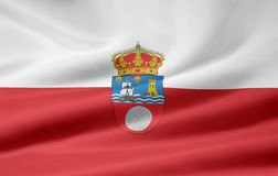 Flag of Cantabria - Spain Stock Image