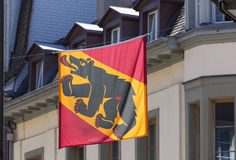 Flag of the Canton of Bern Royalty Free Stock Photos