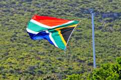 Flag - Cape Town, South Africa Coast Stock Photo