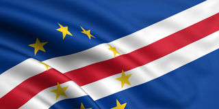 Flag Of Cape Verde. 3d rendered and waving flag of cape verde stock illustration