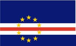 Flag of Cape Verde Royalty Free Stock Photo