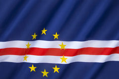 Flag of Cape Verde Islands - Republic of Cabo Verde stock image