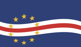 Flag of Cape Verde - Republic of Cape Verde Royalty Free Stock Photo