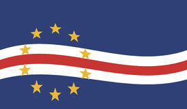 Flag of Cape Verde - Republic of Cape Verde Royalty Free Stock Photography