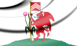Flag of Cardiff, Wales. 3d Rendered Flag of Cardiff, Wales Royalty Free Stock Photo