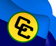 Flag of Caribbean Community. 3D Flag of Caribbean Community CARICOM. Close Up Royalty Free Stock Photos
