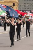 Flag carriers on parade Stock Image