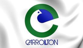 Flag of Carrollton City Texas, USA. Stock Photography