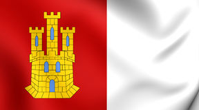 Flag of Castile-La Mancha, Spain. Stock Images