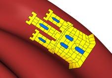 Flag of Castile-La Mancha, Spain. Royalty Free Stock Photography