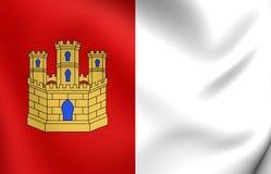 Flag of Castile-La Mancha, Spain. Royalty Free Stock Image