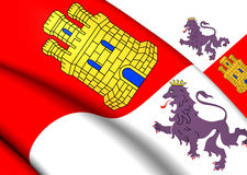 Flag of Castile and Leon, Spain. Royalty Free Stock Images