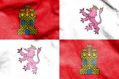 Flag of Castile and Leon, Spain. Stock Photography