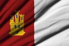 Flag of Castilla la Mancha Royalty Free Stock Image