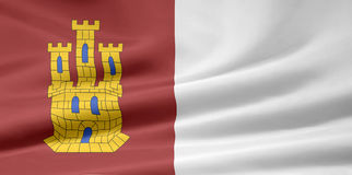 Flag of Castilla la mancha - Spain Stock Photos