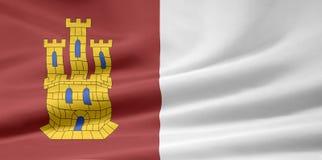 Flag of Castilla la mancha - Spain Stock Photos