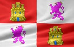 Flag of Castilla y Leon - Spain royalty free stock photo