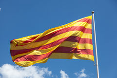 Flag of Catalonia Royalty Free Stock Photography