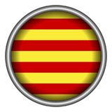 Flag of Catalonia. On a button, Vector illustration Royalty Free Stock Photos