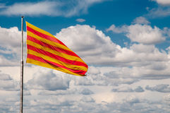 The flag of Catalonia Royalty Free Stock Photos
