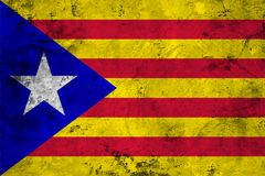 Flag of the Catalonia close up Royalty Free Stock Image