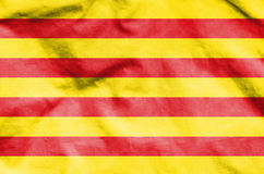 Flag of Catalonia. 3d rendered flag of Catalonia Royalty Free Stock Image