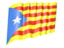 Flag of Catalonia Stock Photography