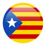 Flag of Catalonia. On a button, Vector illustration Stock Photography