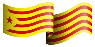Flag of Catalonia. On a white background, Vector illustration Royalty Free Stock Photography
