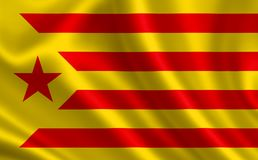 Flag of Catalonia. Royalty Free Stock Photo