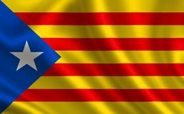 Flag of Catalonia. Stock Images