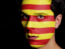 Flag of Catalonia Royalty Free Stock Photos