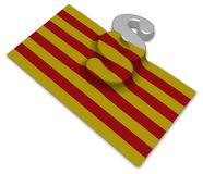 Flag of catalonia and paragraph symbol Royalty Free Stock Photography