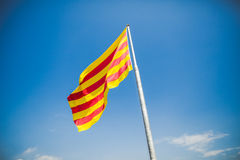 Flag of Catalonia Stock Images