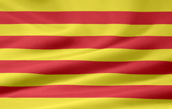 Flag of Catalonia - Spain. Very large flag of the spanish province of Catalonia Stock Images