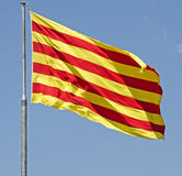 Flag of Catalonia Stock Photo