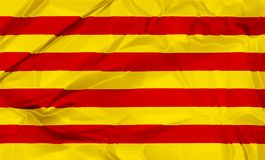 Flag of Catalonia Royalty Free Stock Images