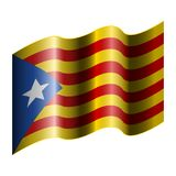 Flag of Catalonia. On a white background, Vector illustration Royalty Free Stock Image