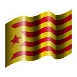 Flag of Catalonia. On a white background, Vector illustration Royalty Free Stock Photos