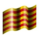 Flag of Catalonia. On a white background, Vector illustration Royalty Free Stock Photo