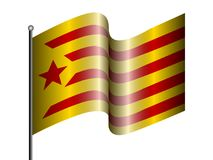 Flag of Catalonia. On a white background, Vector illustration Stock Photos