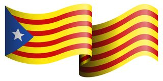 Flag of Catalonia. On a white background, Vector illustration Stock Photography