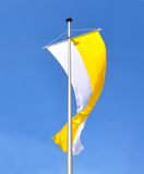 Flag of catholic church Stock Photo
