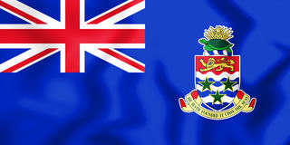 Flag of the Cayman Islands. 3D Illustration. Stock Photography